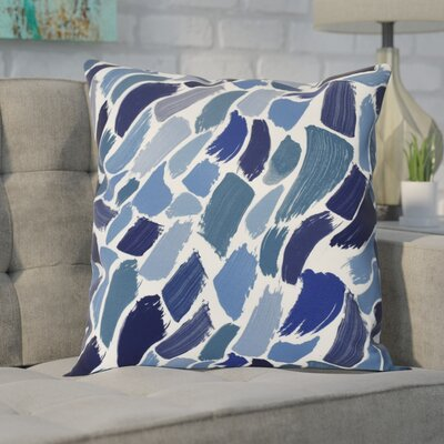 Goodlow Abstract Throw Pillow Size: 16 H x 16 W, Color: Blue