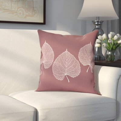 Leatham Leaf 2 Floral Throw Pillow Size: 26 H x 26 W, Color: Brick Red
