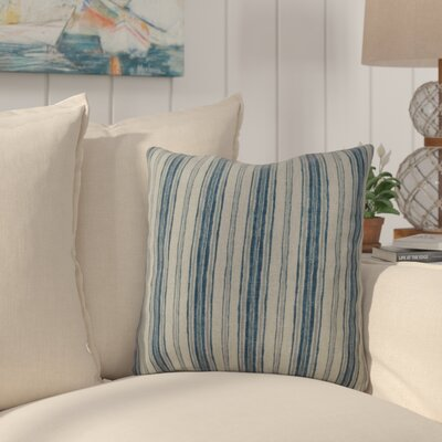 Kenzie 100% Cotton Throw Pillow Color: Denim