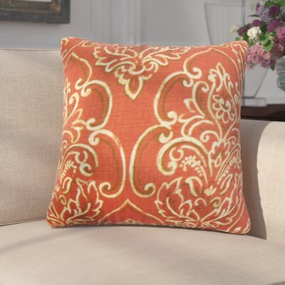 Chancellor Floral Throw Pillow Cover Color: Red