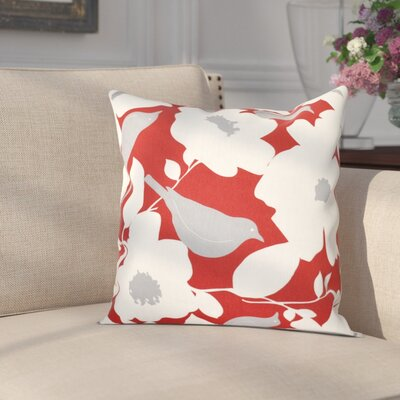 Franca Modfloral Floral Print Throw Pillow Size: 18 H x 18 W, Color: Coral