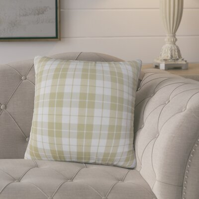 Joan Plaid Throw Pillow Cover Color: Beige
