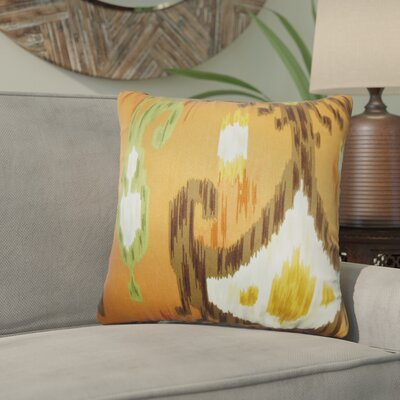 Bringewood Ikat Cotton Throw Pillow Color: Cinnabar, Size: 24 x 24