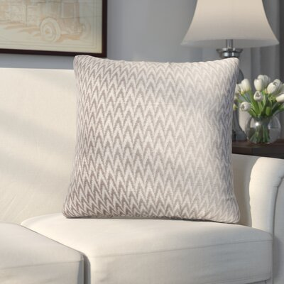 Longview Chevron Decorative Throw Pillow Color: Silver
