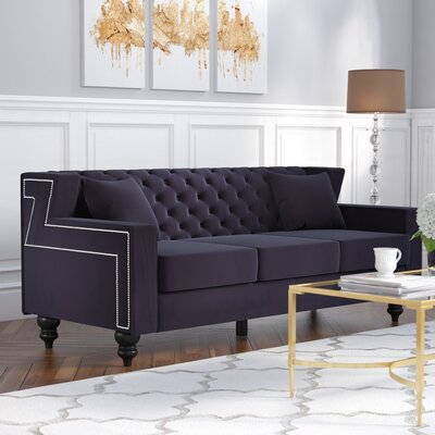 Honore Sofa Upholstery: Black