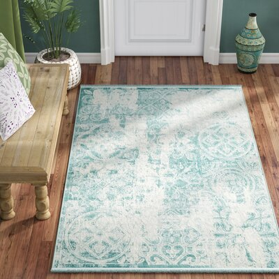 Jacobson Floral Blue Area Rug Rug Size: Rectangle 9 x 12