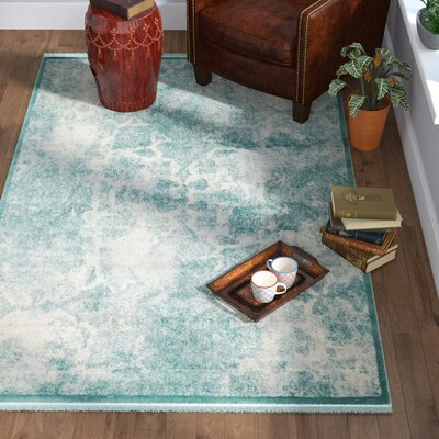 Jacobson Blue Area Rug Rug Size: Rectangle 8 x 10