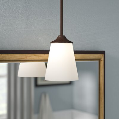 Elkton 1-Light Mini Pendant Finish: Burnt Sienna