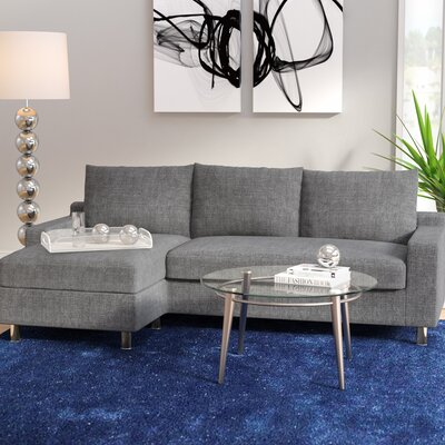 Lainey Sectional Sofabed Grey-Right Facing Orientation: Left Hand Facing