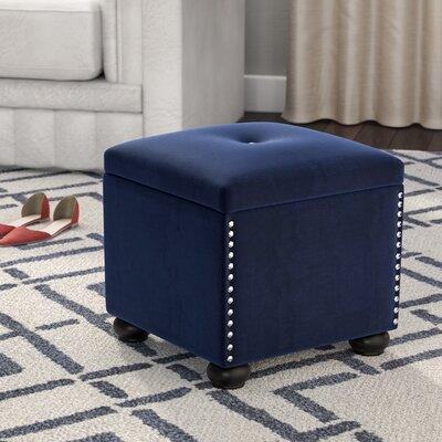 Aubina Storage Ottoman Upholstery: Navy
