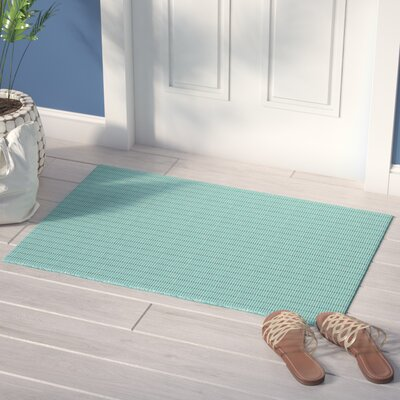 Rudel Hand Woven Cotton Mint Green Area Rug Rug Size: Rectangle 2 x 3
