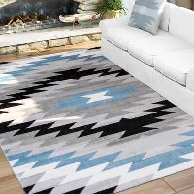 Point Arena Gray Area Rug Rug Size: 710 x 910