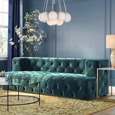 Audree Chesterfield Sofa Upholstery: Green