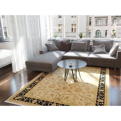Fonciere Cream Area Rug Rug Size: Rectangle 9 x 12