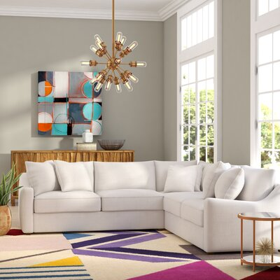 Buono Sectional Upholstery: Oakley Ivory, Orientation: Left Hand Facing