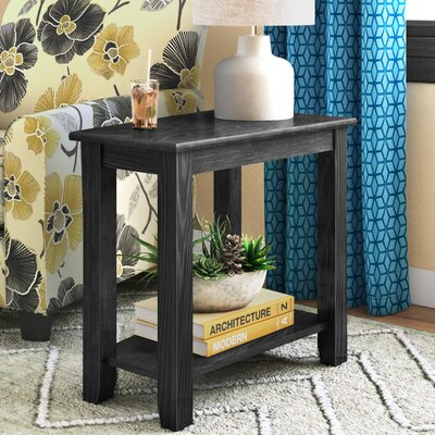 Turley Chairside Table Color: Black