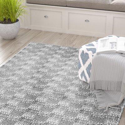 Burley White/Gray Area Rug Rug Size: Rectangle 76 x 96
