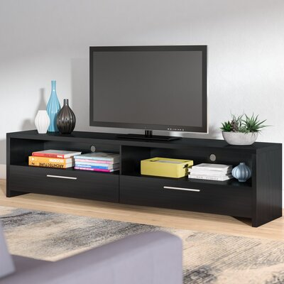 Benson 59-75 TV Stand Width of TV Stand: 17.75 H x 75 W x 15.5 D