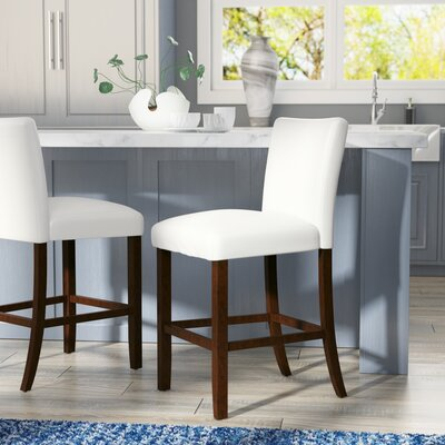 Cher 30 Bar Stool Upholstery: White