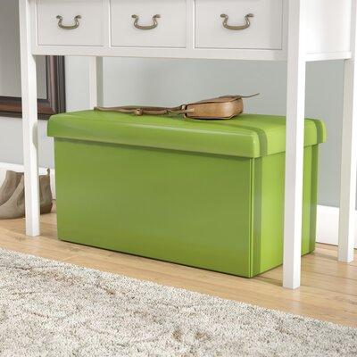 Ridgedale Double Folding Storage Ottoman Upholstery: Lime