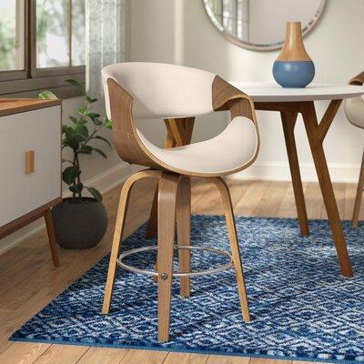 Auburn 24 Swivel Bar Stool Upholstery : Cream