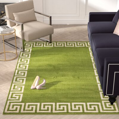 Cendrillon Light Green Area Rug Rug Size: Rectangle 9 x 12