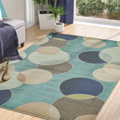 Chenango Rectangle Blue Area Rug Rug Size: Rectangle 106 x 165
