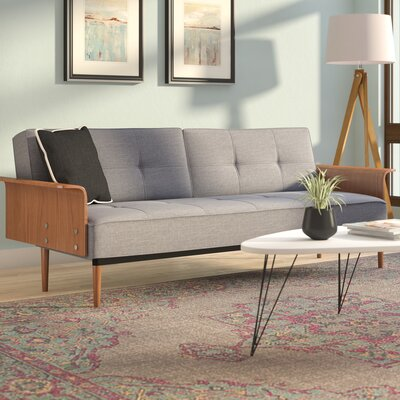 Barbee Convertible Sofa Upholstery: Gray