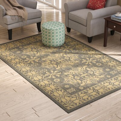 Brasstown Kilim Slate/Gray Indoor/Outdoor Area Rug Rug Size: Rectangle 410 x 76