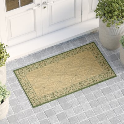 Beasley Natural/Olive Indoor/Outdoor Area Rug Rug Size: Rectangle 2 x 37