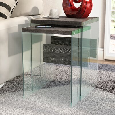 Calorafield 2 Piece Nesting Tables Color: Weathered Gray