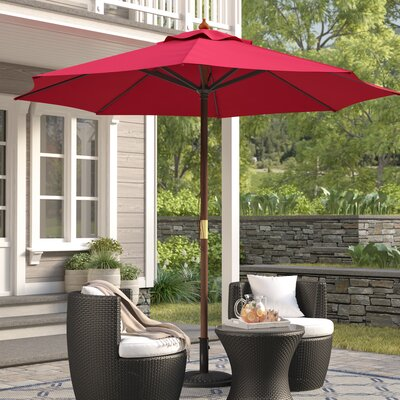 New Haven 9' Market Umbrella Fabric: Red