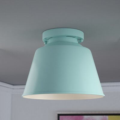 Sarah 1-Light Semi Flush Mount Finish: Hi Gloss Blue