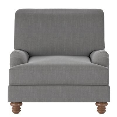 Delphine Armchair Body Fabric: Conversation Cinder