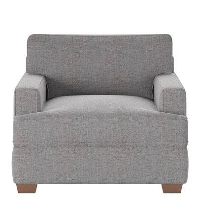 Avery Armchair Body Fabric: Zula Charcoal