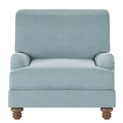 Delphine Armchair Body Fabric: Tina Airforce