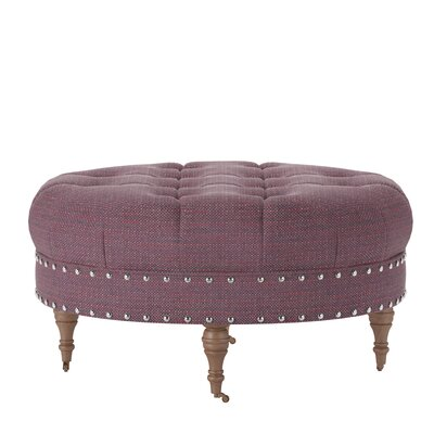 Wyatt Ottoman Body Fabric: Pebble Berrycrush