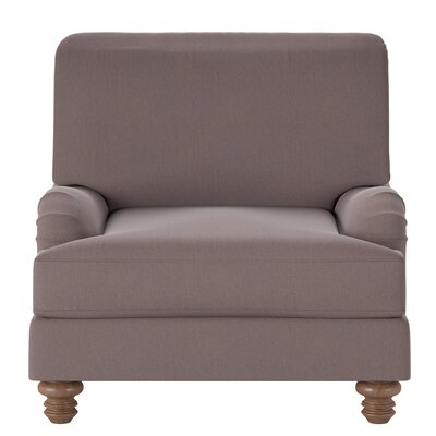 Delphine Armchair Body Fabric: Tina Dark Brown
