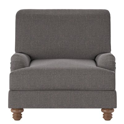 Delphine Armchair Body Fabric: Lizzy Graphite