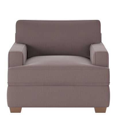 Avery Armchair Body Fabric: Tina Dark Brown