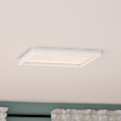 Madalynn LED Flush Mount Finish: White