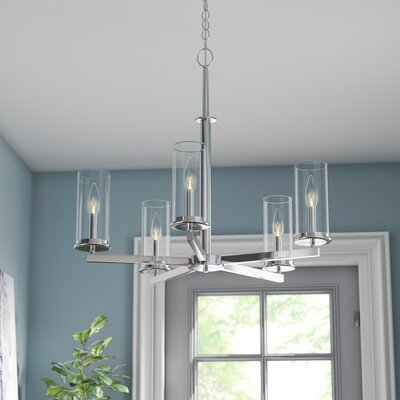 Myrie 5-Light Shaded Chandelier Finish: Chrome