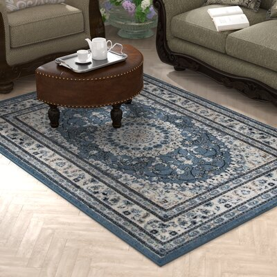 Gwinn Blue Indoor/Outdoor Area Rug Rug Size: 5 x 7