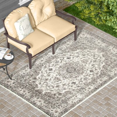 Murphysboro Cream Indoor/Outdoor Area Rug Rug Size: 710 x 106
