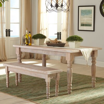 Valerie Dining Table Color: Driftwood