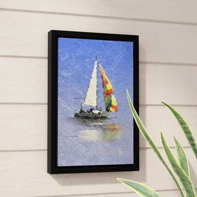 Wild Blue Yonder Framed Graphic Art on Wrapped Canvas Size: 18