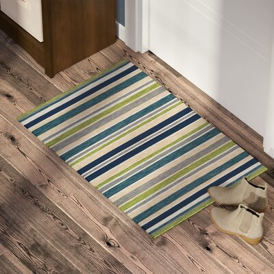 Cordero Hand-Woven Ocean Blue Indoor/Outdoor Area Rug Rug Size: Rectangle 2 x 3