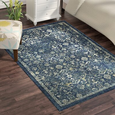 Bayou Navy/Teal Area Rug Rug Size: Rectangle 53 x 76