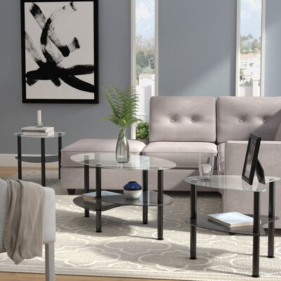 Clint Coffee Table Set Color: Black