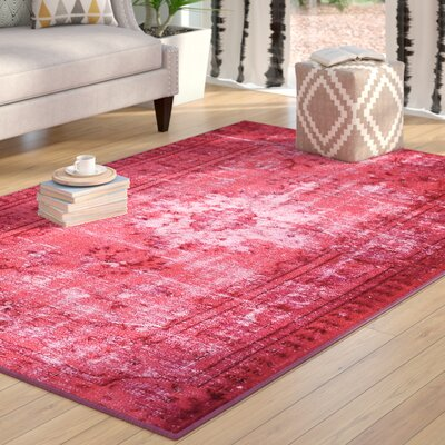 Byfield Pink Area Rug Rug Size: Rectangle 55 x 82